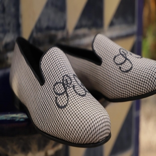 How would you define our Boston Houndstooth Black & White?   #women #men #MTOshoes #handmad #Sneakers #superglamourous #giussepezanotti #bespokeshoes #fashionblogger #CustomerShoes #slippers #shoes #gentleman #ladys