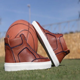🏀 I love Basketball  Do you dare to play? 🙄  With our MULTI HIGH TOP PEBBLEGRAIN CAMEL you will go far ✈  ♦ http://mtr.cool/gseulgazid #shoes #gentleman #menstyle #luxury #luxuryshoes #shoponline #sneakers #bespokeshoes #women #slippers #giuseppezanotti #loveshoes